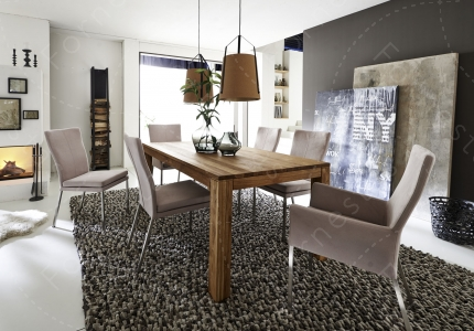 MULTI Dining Table With Or Without Plug In Extension Leaves 60cm Length Possible Dimensions